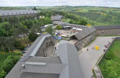 A view over the forum of Ordenburg Vogelsang, Eifel National Park.
