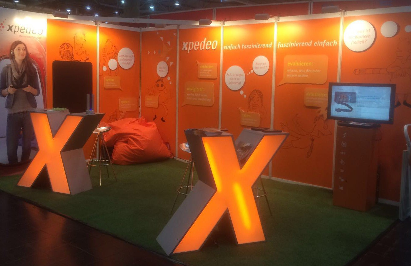 Messestand Multimediaguide xpedeo